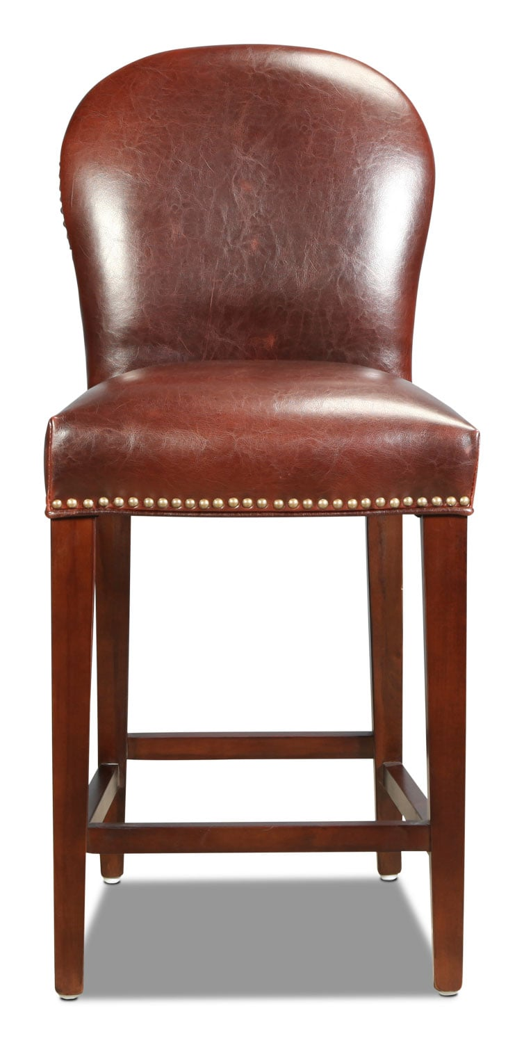 Grandview Rounded Counter-Height Stool - Brown