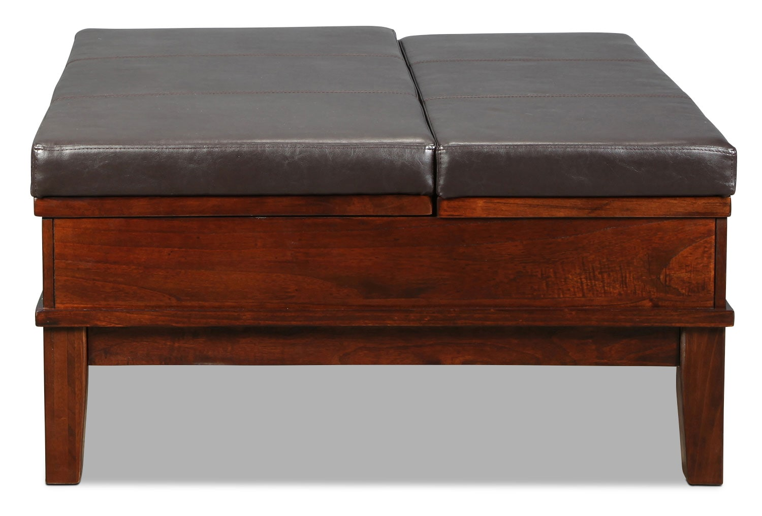 Accent and Occasional Furniture - Westin Lift-Top Cocktail Ottoman - Brown Cherry
