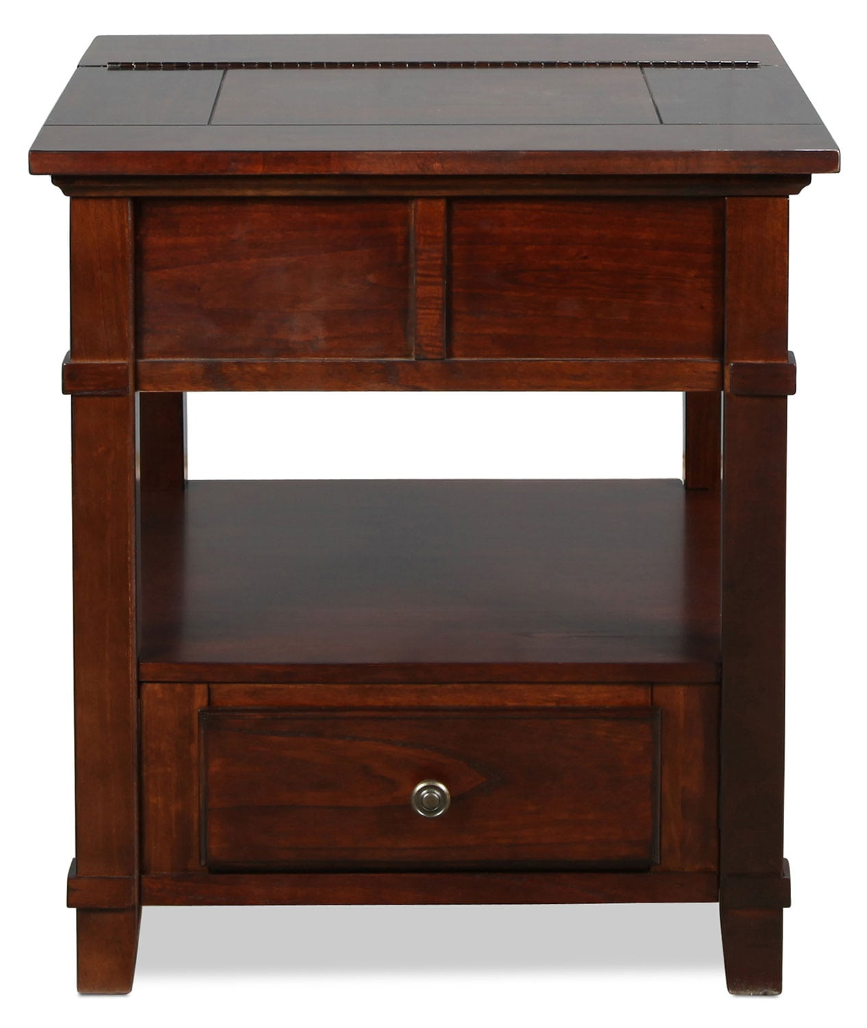 Accent and Occasional Furniture - Westin End Table - Brown Cherry