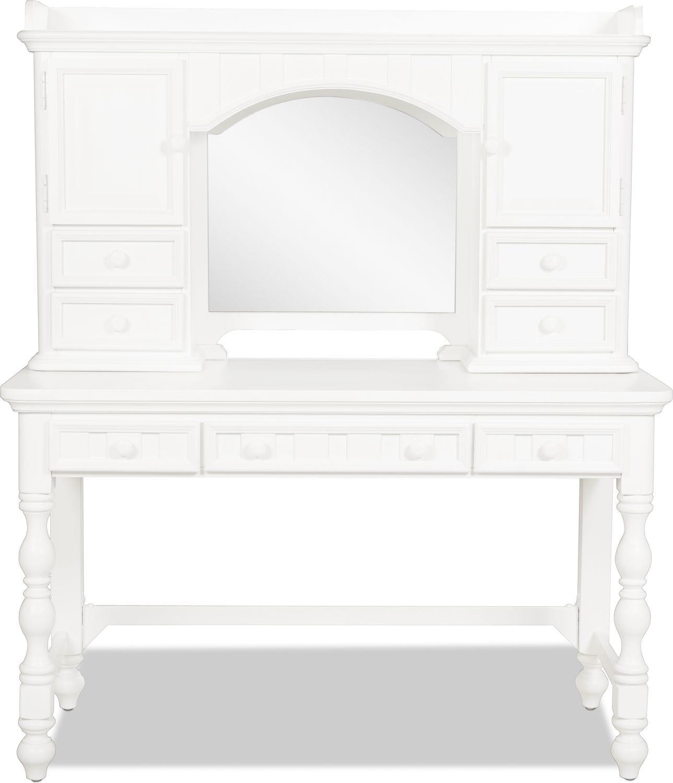 Laney Desk Hutch - White