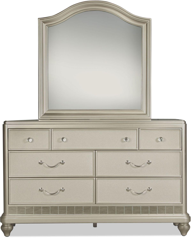 Kids Furniture - Lil' Posh Mirror - Platinum