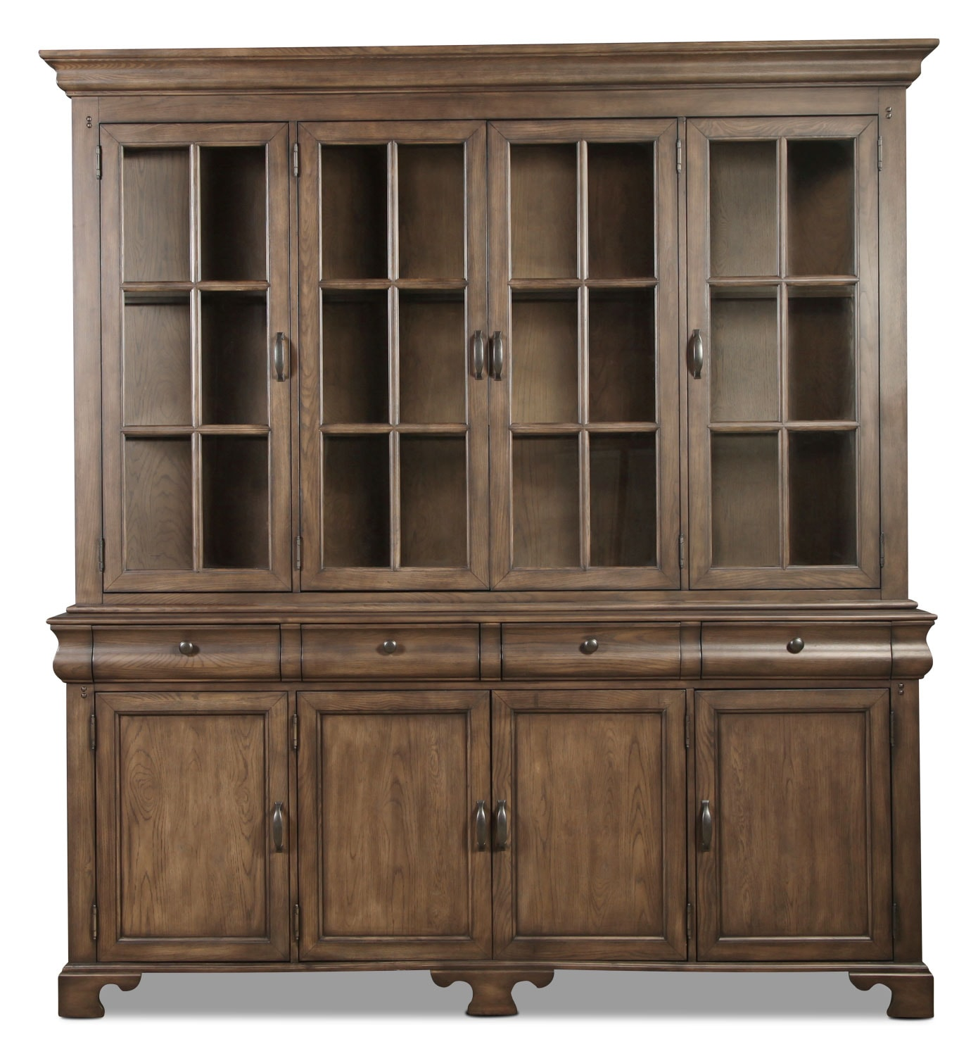 Magnolia home traditional buffet and hutch levin furniture - Dining room hutch and buffet ...