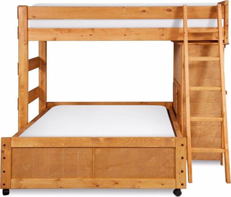 kids furniture phoenix twin over full loft bed with desk cinnamon
