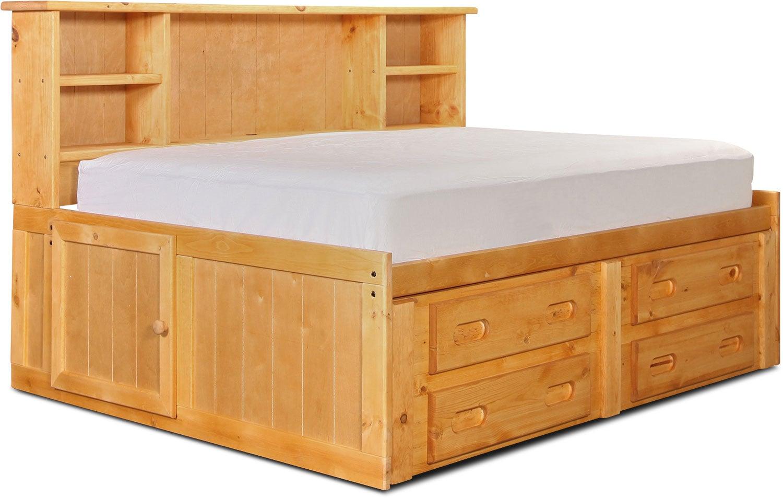 Kids Furniture - Phoenix Full Bookcase Daybed - Cinnamon
