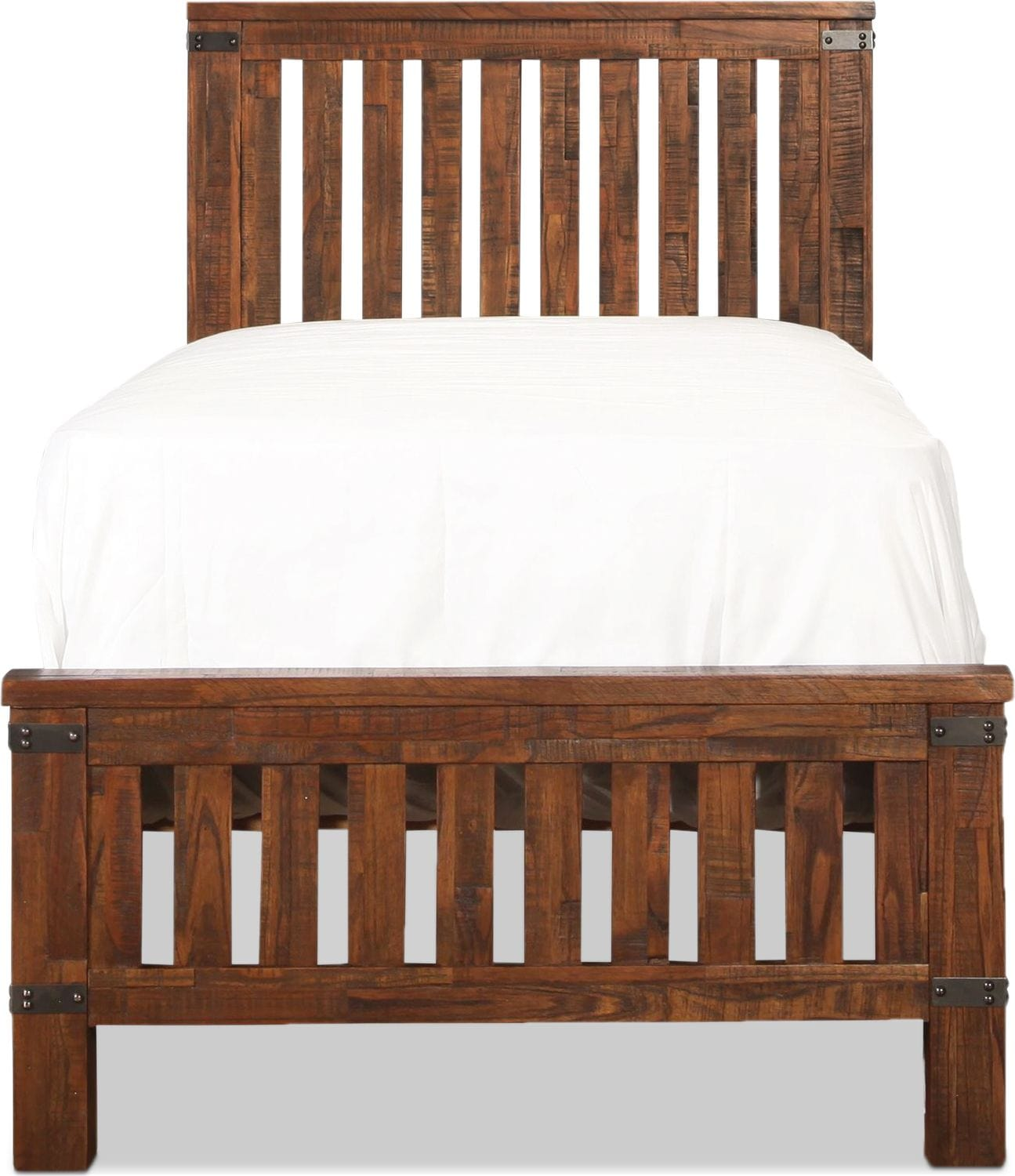 Lil' Everett Full Bed - Weathered Natural