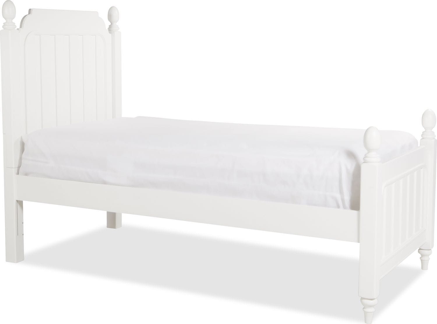 Laney Twin Bed - White