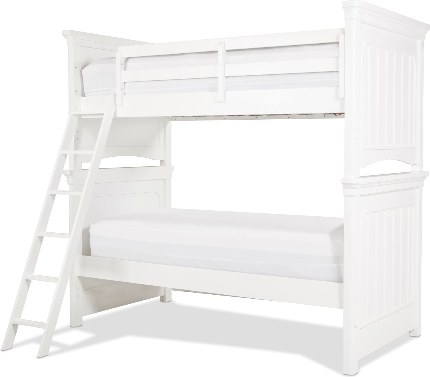 Laney Twin over Twin Bunk Bed - White