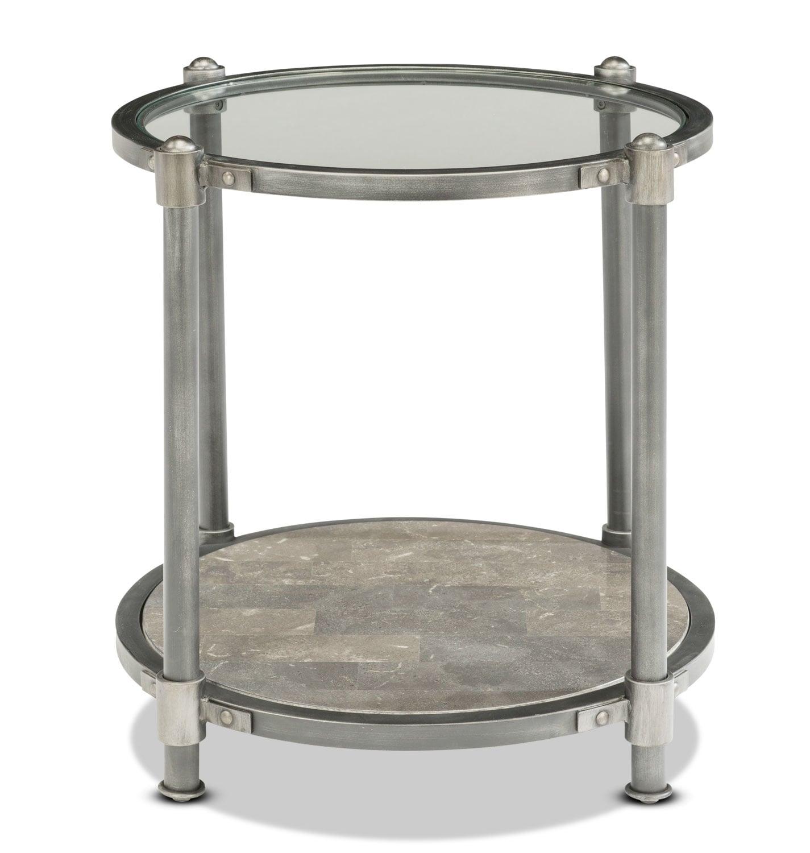 bluestone end table silver levin furniture