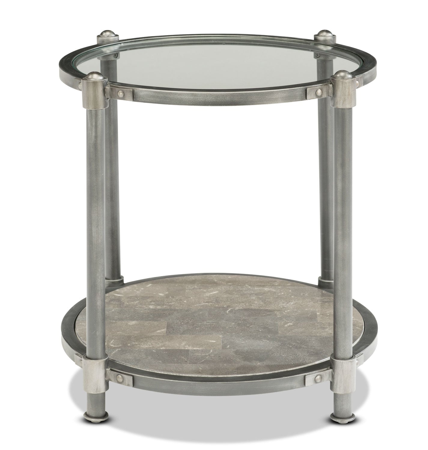 Bluestone End Table - Silver