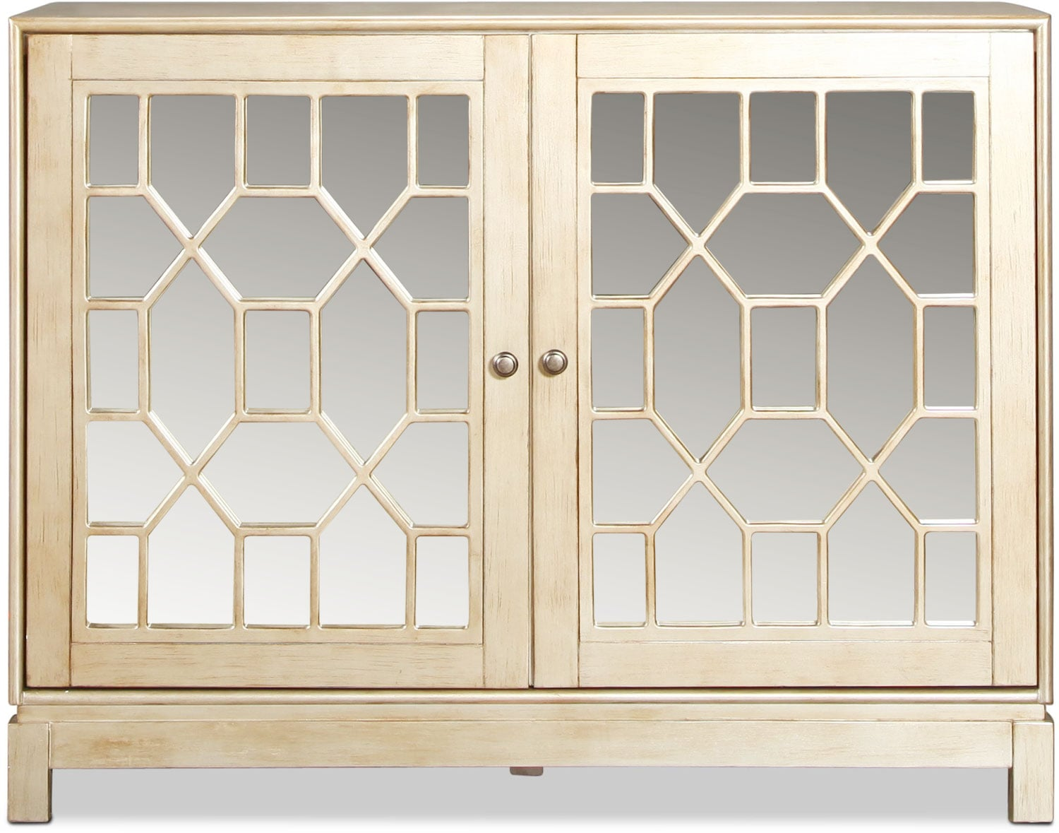 Lee Accent Cabinet - Antiqued Silver