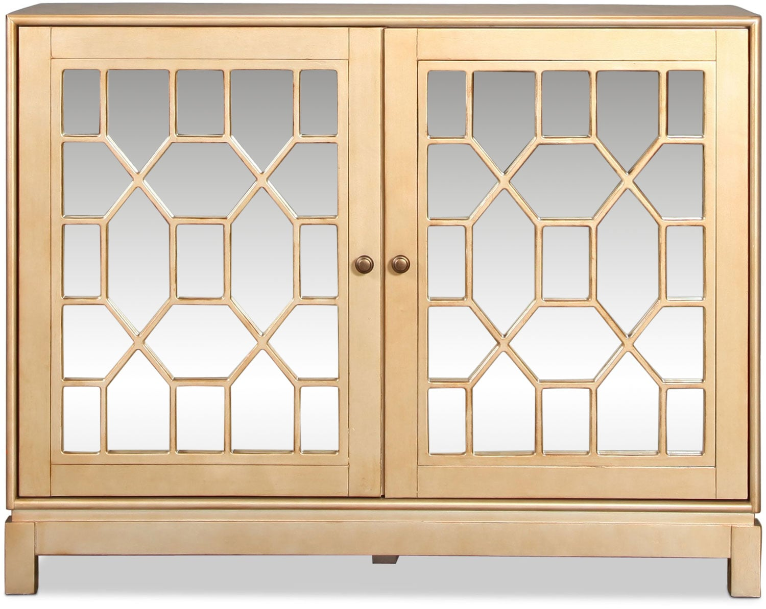 Lee Accent Cabinet - Champagne Gold
