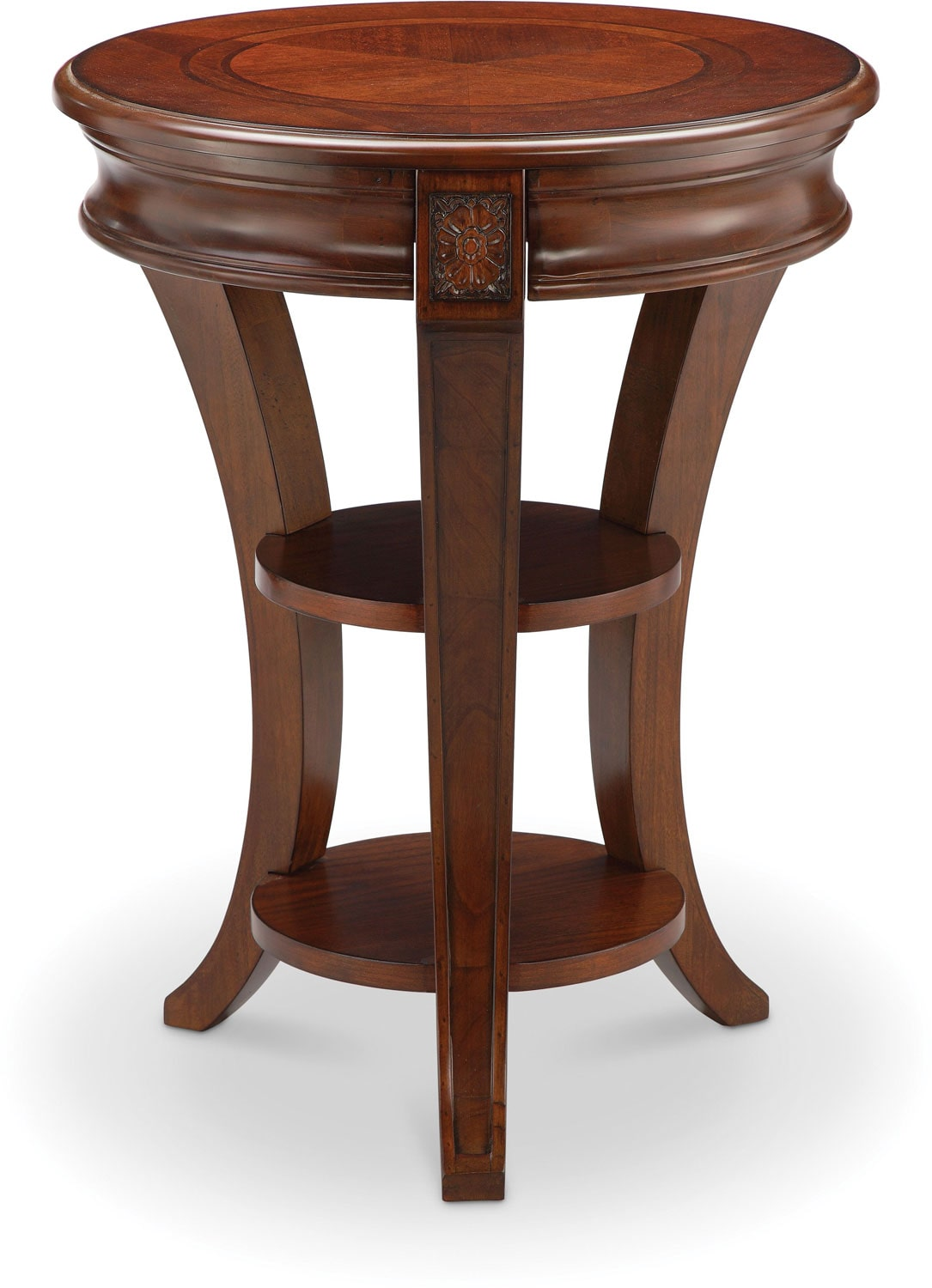 Winslet Chairside Table - Cherry