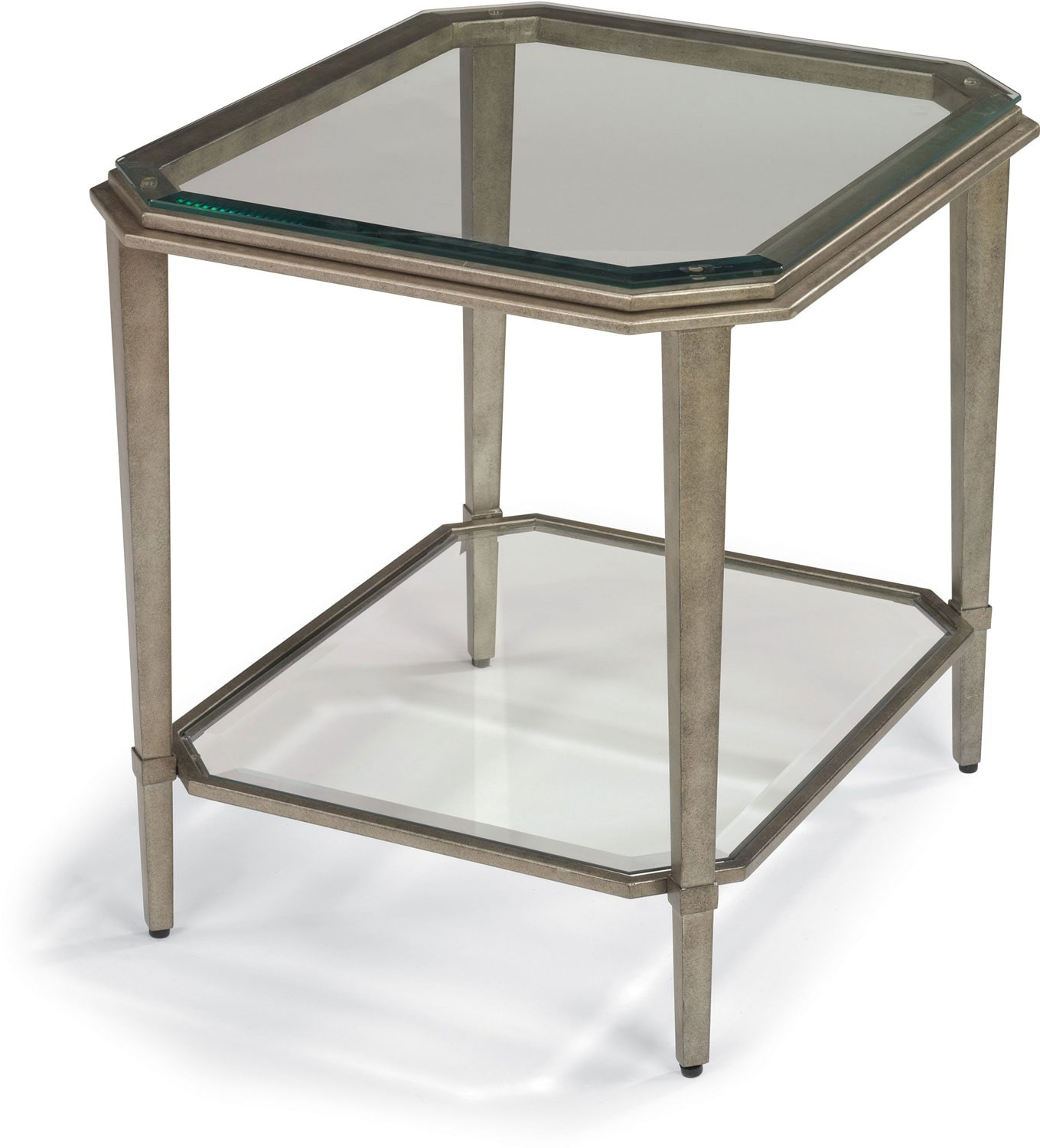 Aged Pewter End Table