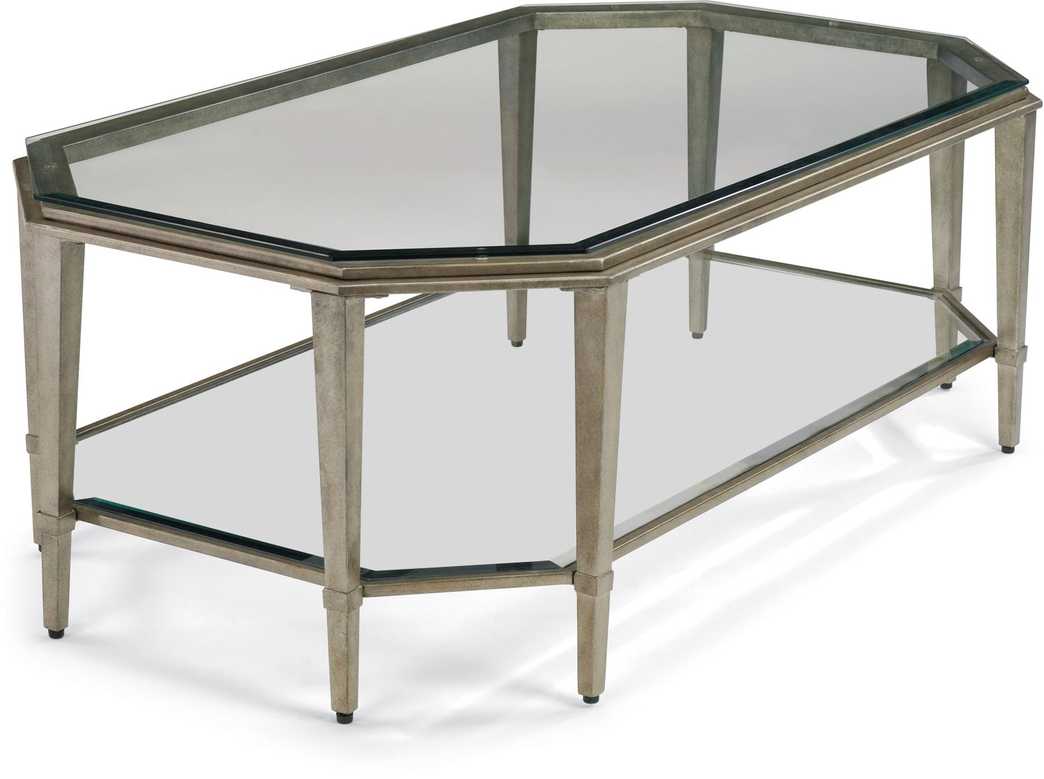 Aged Pewter Coffee Table