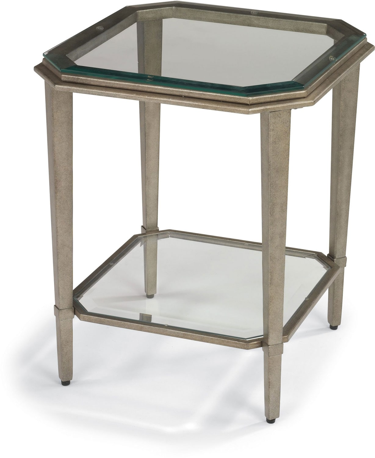 Aged Pewter Chairside Table