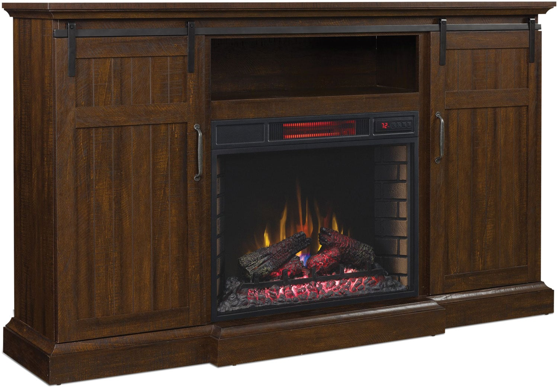 Manning Media Fireplace - Espresso