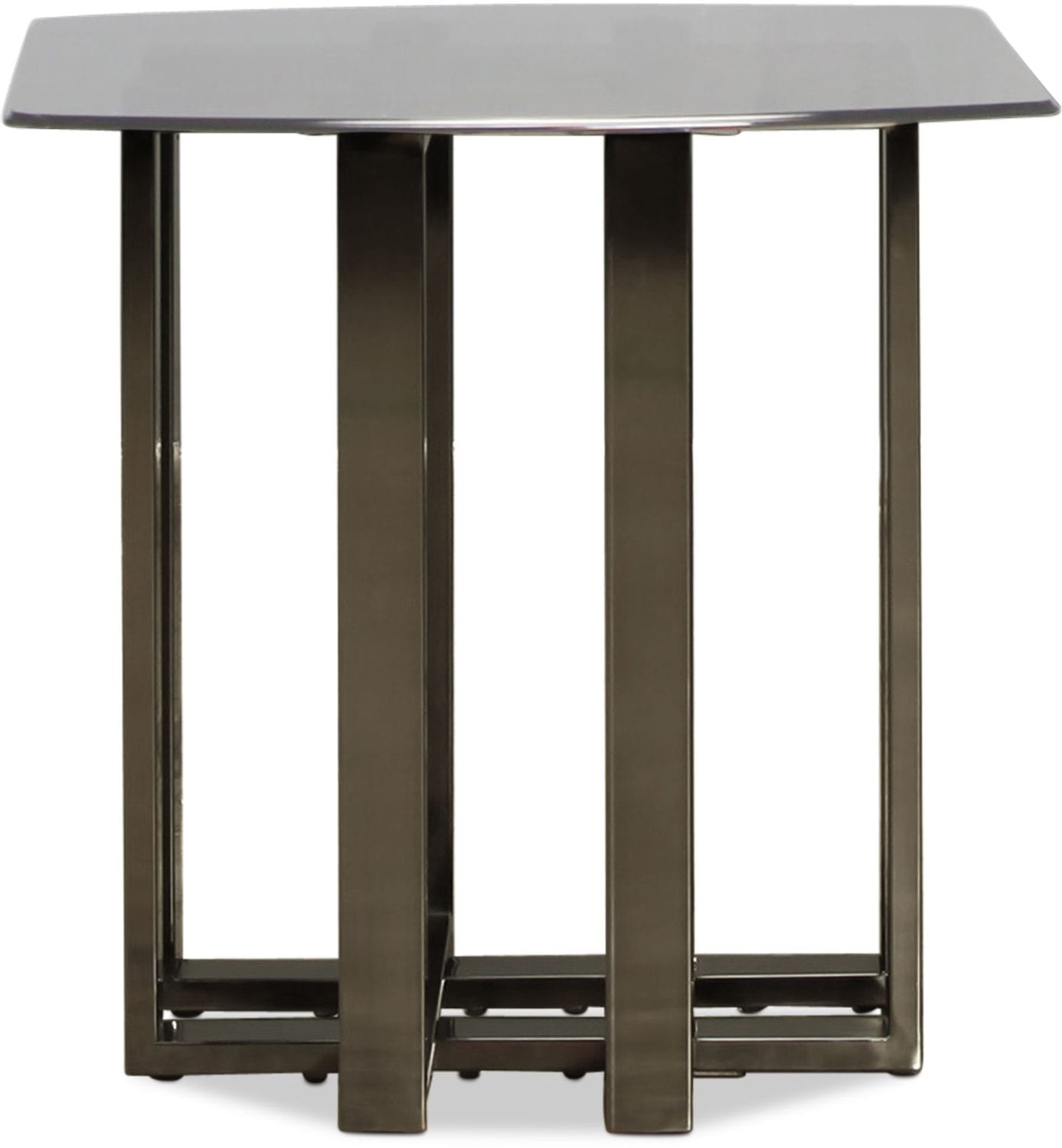 Cassia End Table - Black Chrome