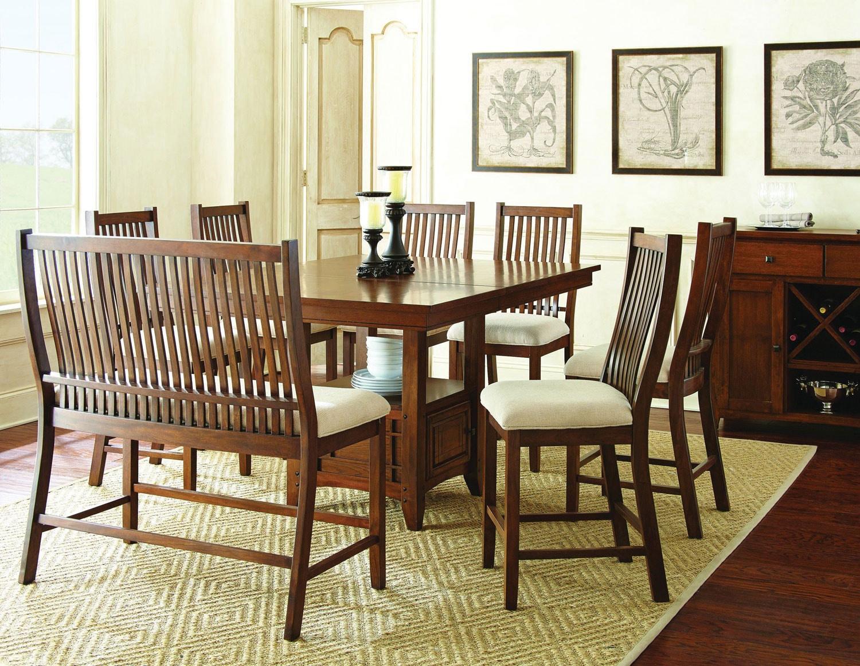 Leavenworth 5 piece dining oak levin furniture for Levin furniture living room sets