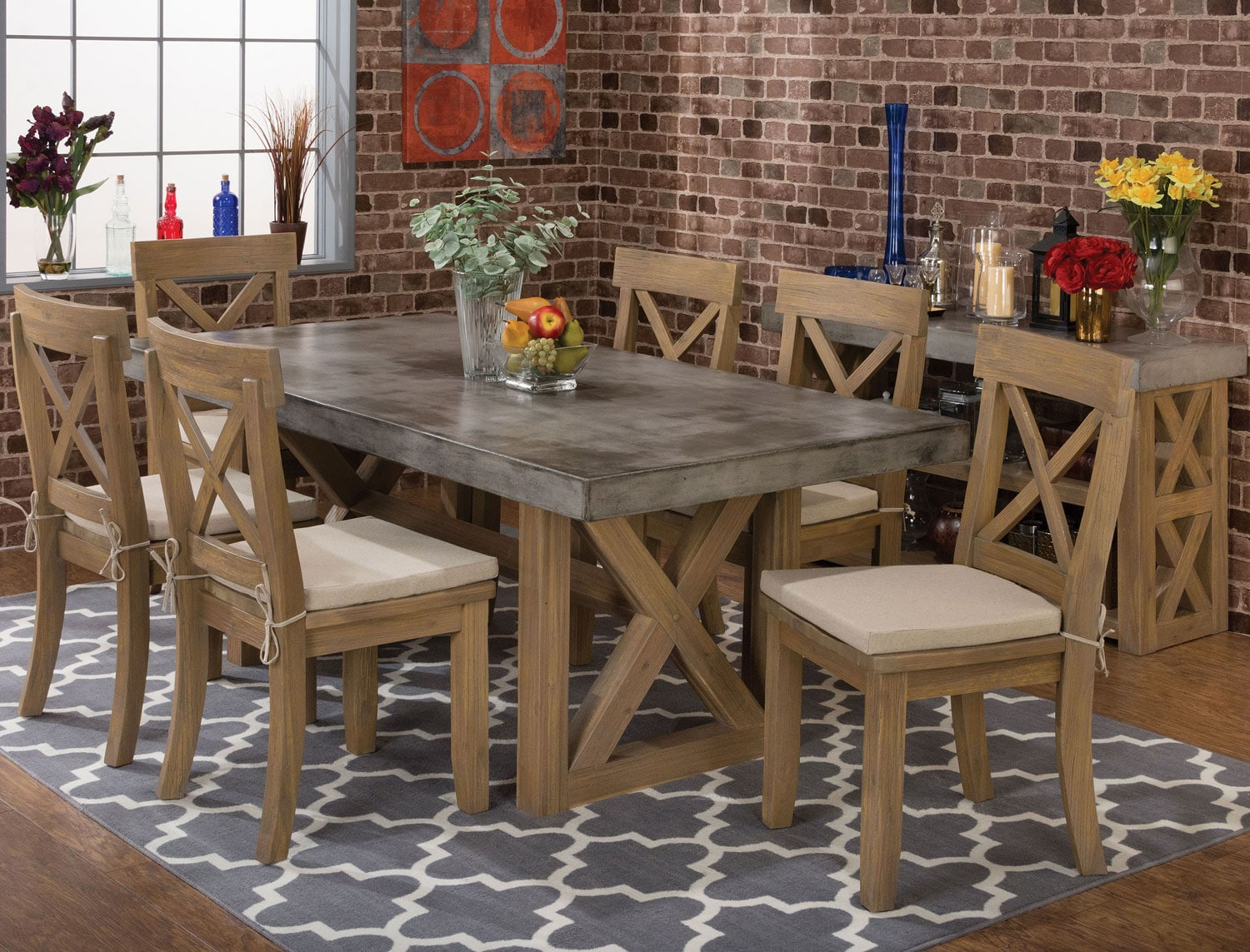 rockport table and 4 side chairs levin furniture. Black Bedroom Furniture Sets. Home Design Ideas