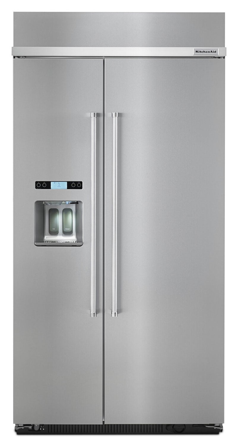 Refrigerators and Freezers - KitchenAid 25 Cu. Ft. Built-In Side-by-Side Refrigerator – KBSD612ESS