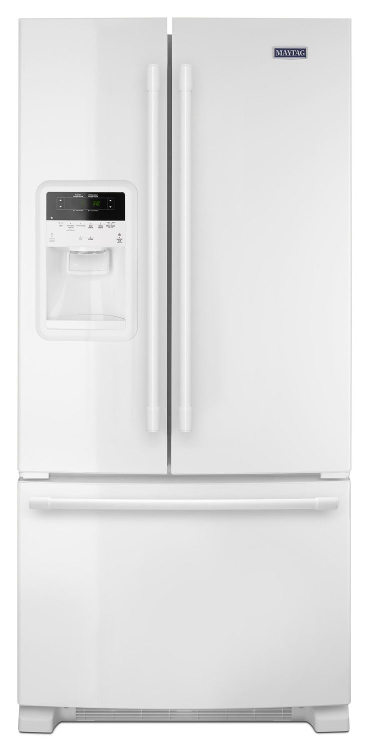 Refrigerators and Freezers - Maytag 22 Cu. Ft. French-Door Refrigerator – MFI2269FRW