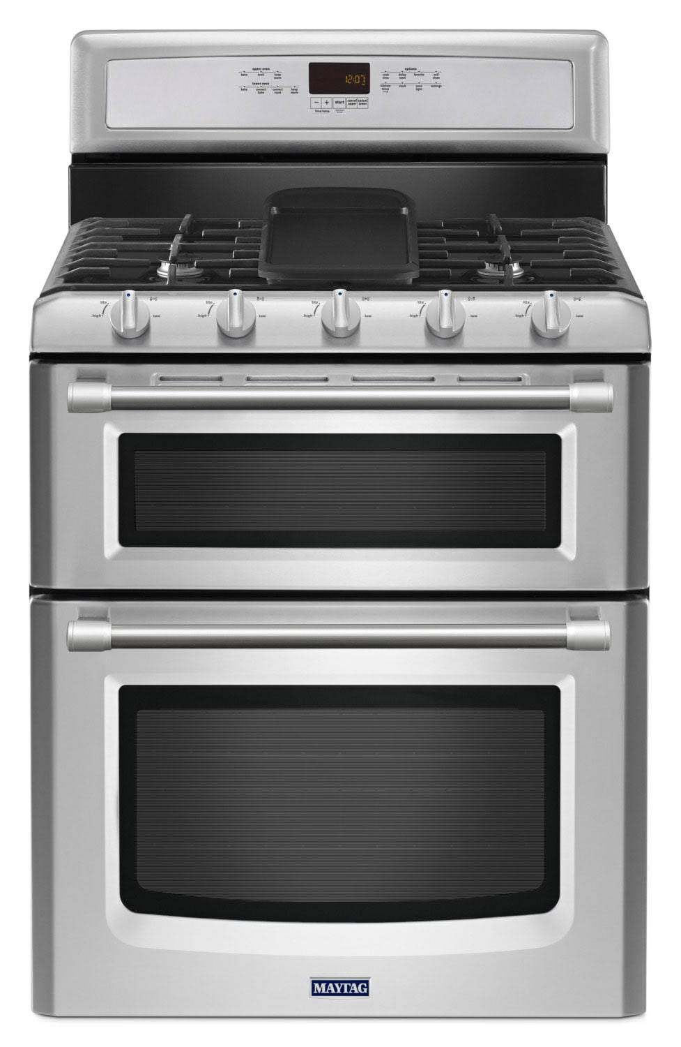 Maytag Gemini® 6.0 Cu. Ft. Double Oven Gas Freestanding Range – MGT8820DS