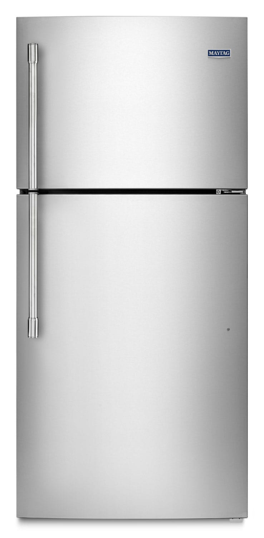 maytag 19 cu ft top freezer refrigerator mrt519sffz the brick. Black Bedroom Furniture Sets. Home Design Ideas