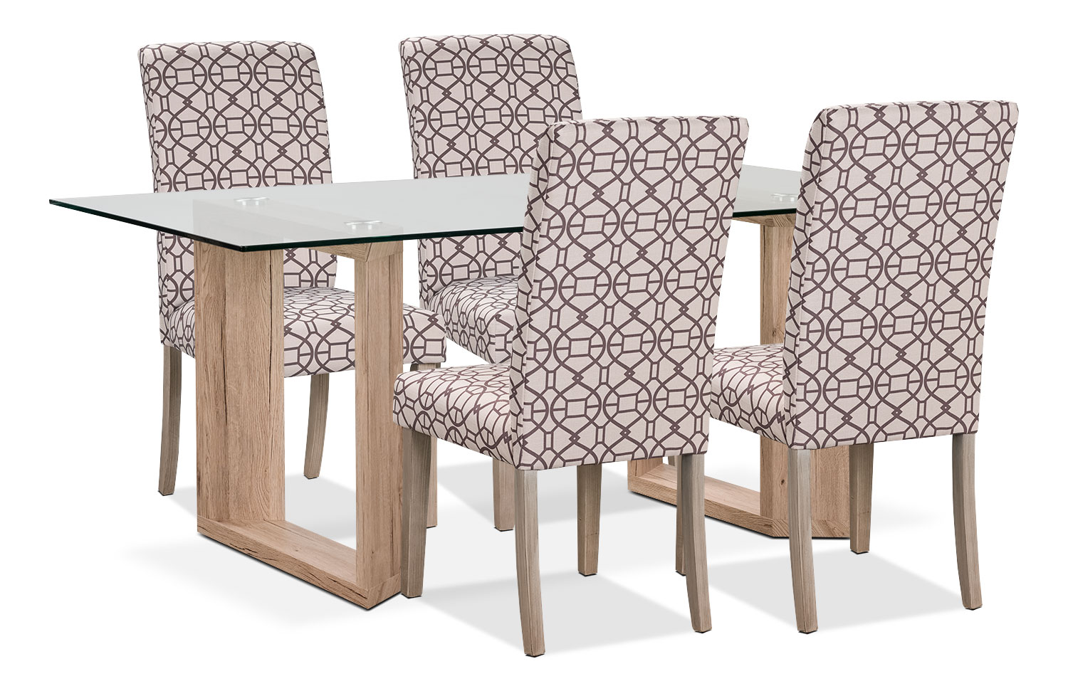 Dining Room Furniture - Aiden 5-Piece Dining Package with Kalen Chairs – Chocolate