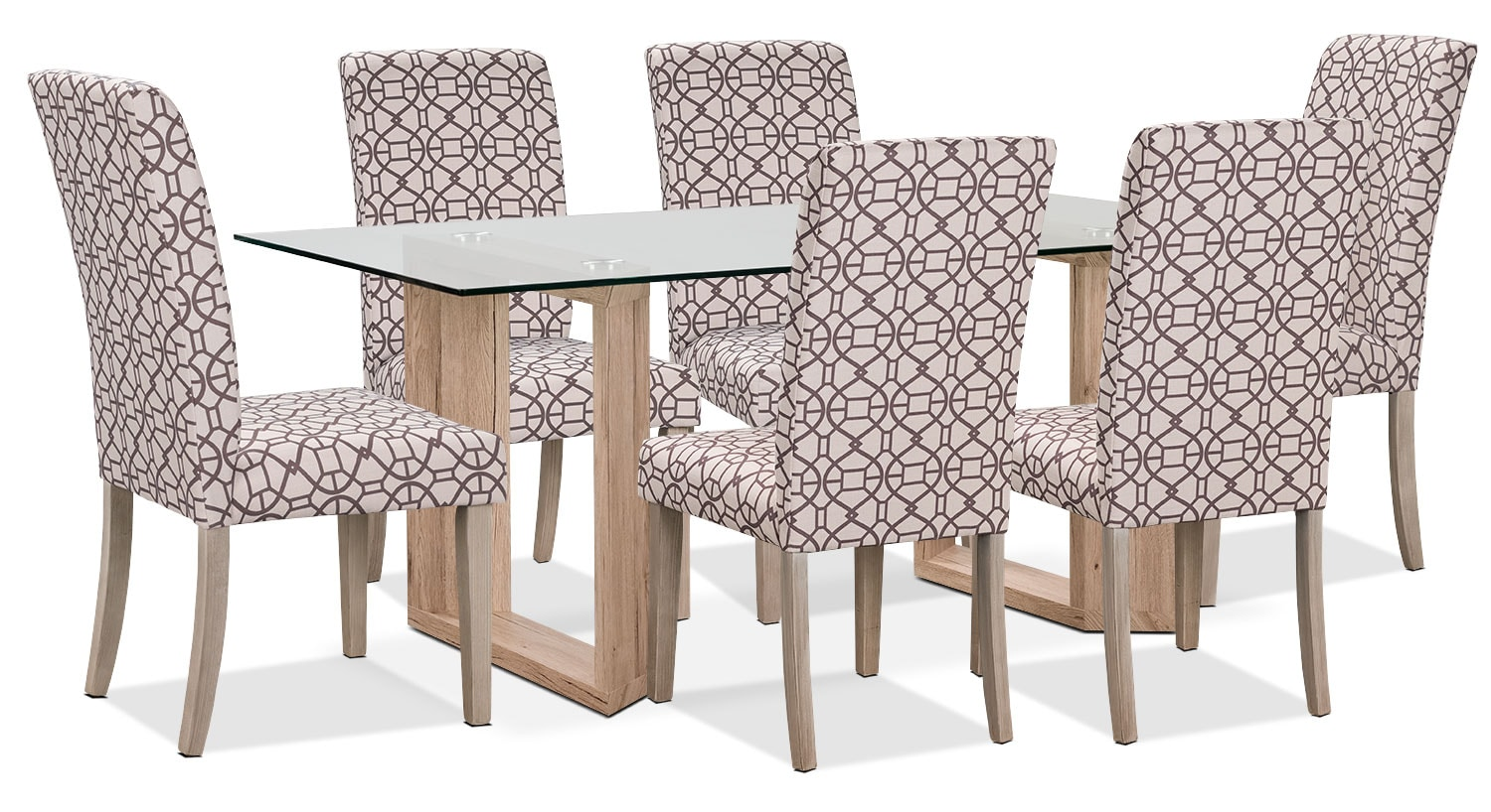 Aiden 7-Piece Dining Package with Kalen Chairs – Chocolate