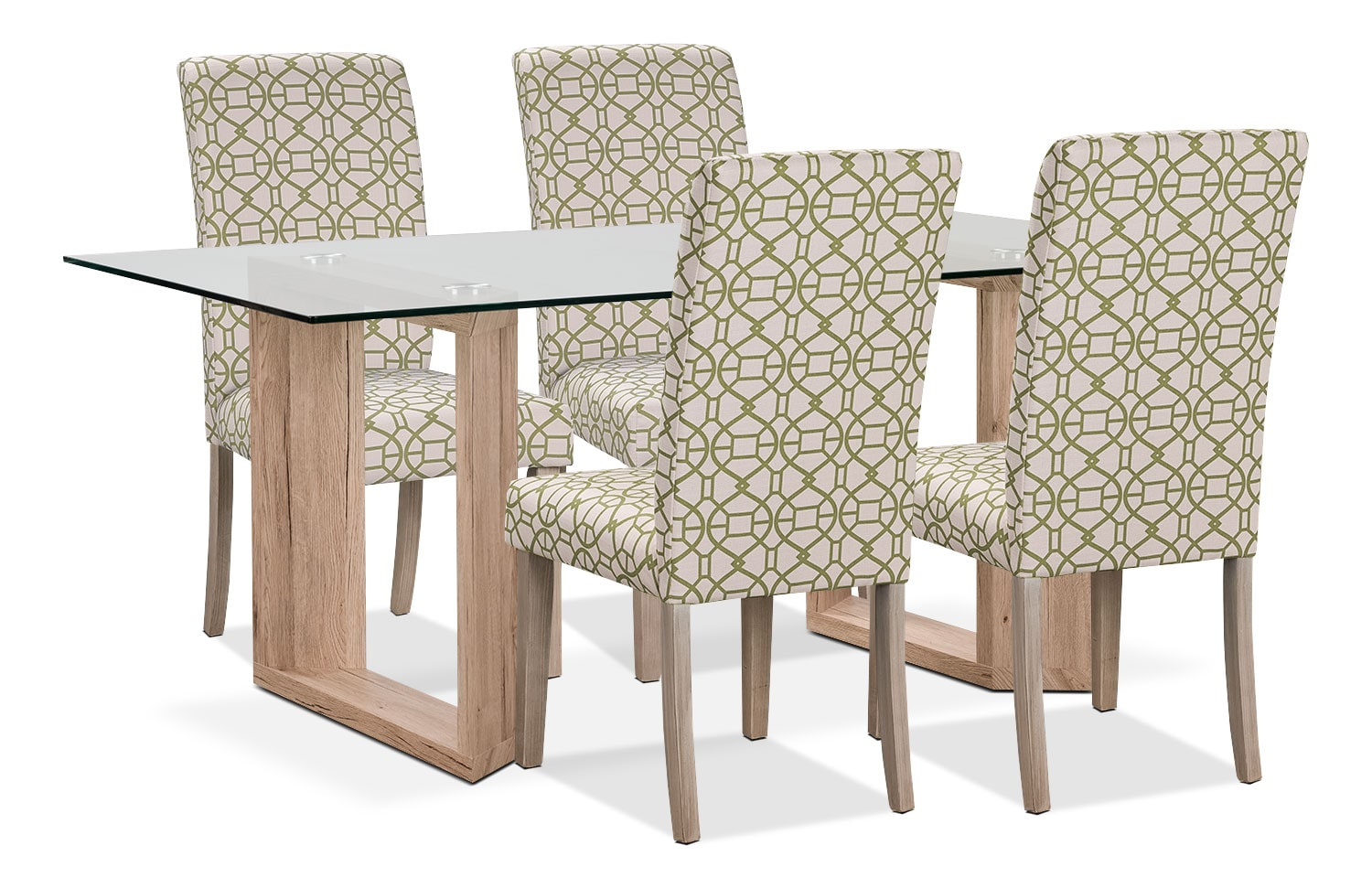 Dining Room Furniture - Aiden 5-Piece Dining Package with Kalen Chairs – Green