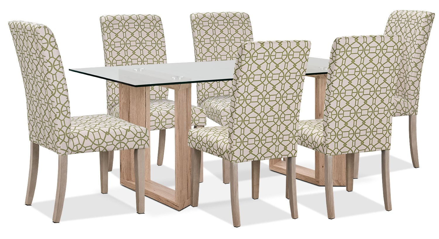 Dining Room Furniture - Aiden 7-Piece Dining Package with Kalen Chairs – Green