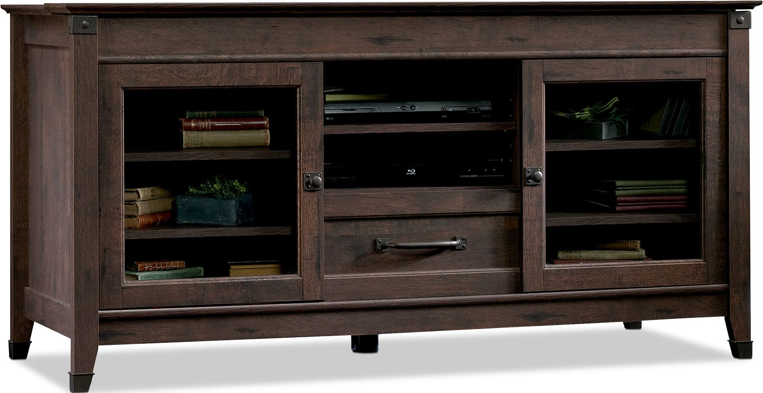 """Carson Forge 61"""" TV Stand – Coffee Oak"""