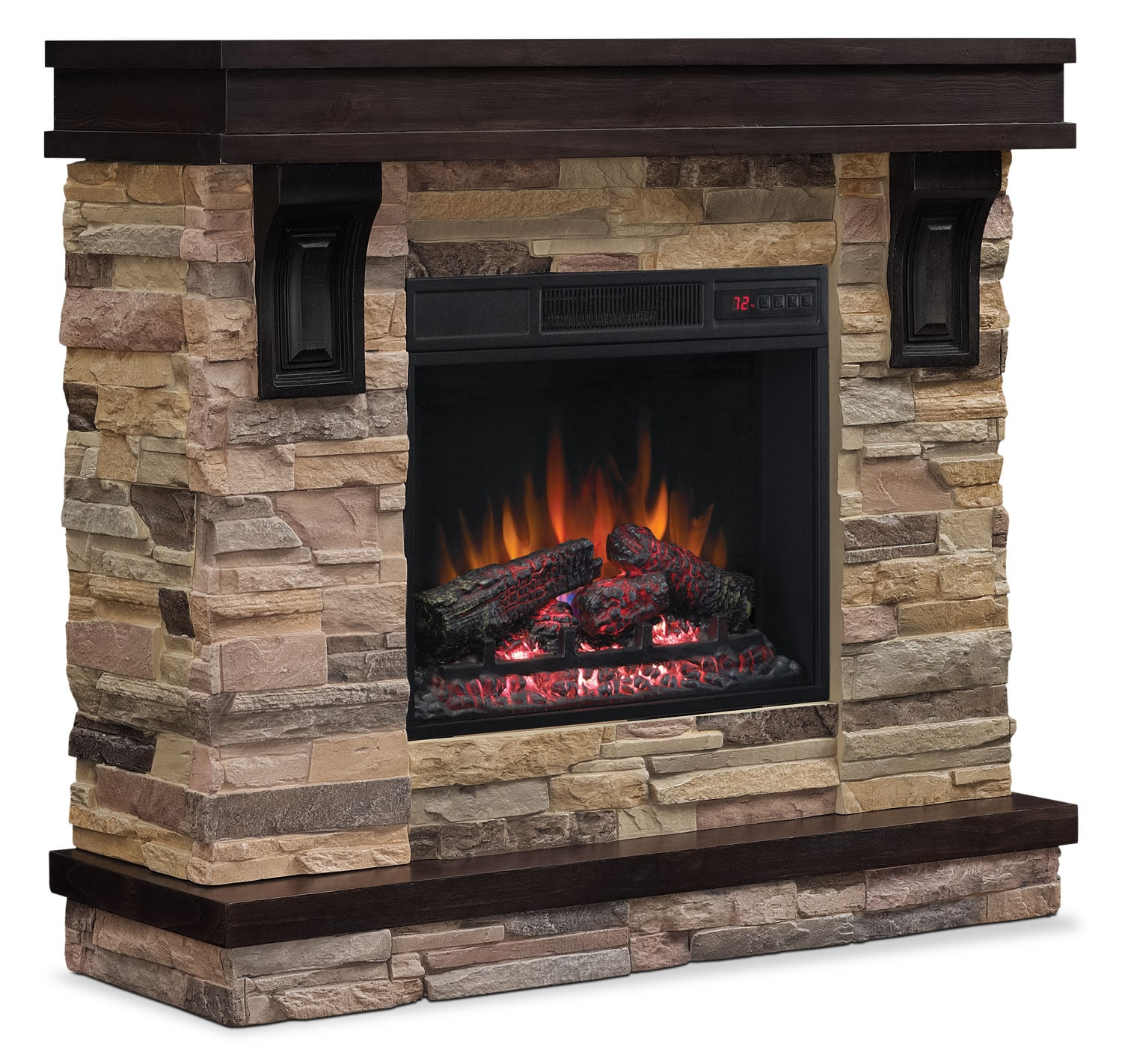 "Sarah Check Hearth Cabinet: Austin 45"" TV Stand With Log Firebox"