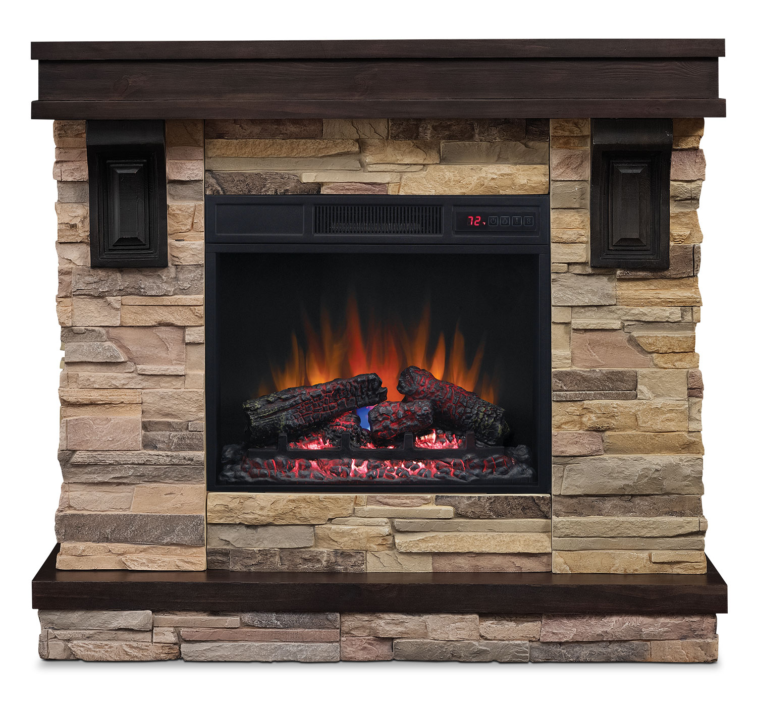 Austin 45 TV Stand with Log Firebox  The Brick -> Meuble Tv Foyer Brick