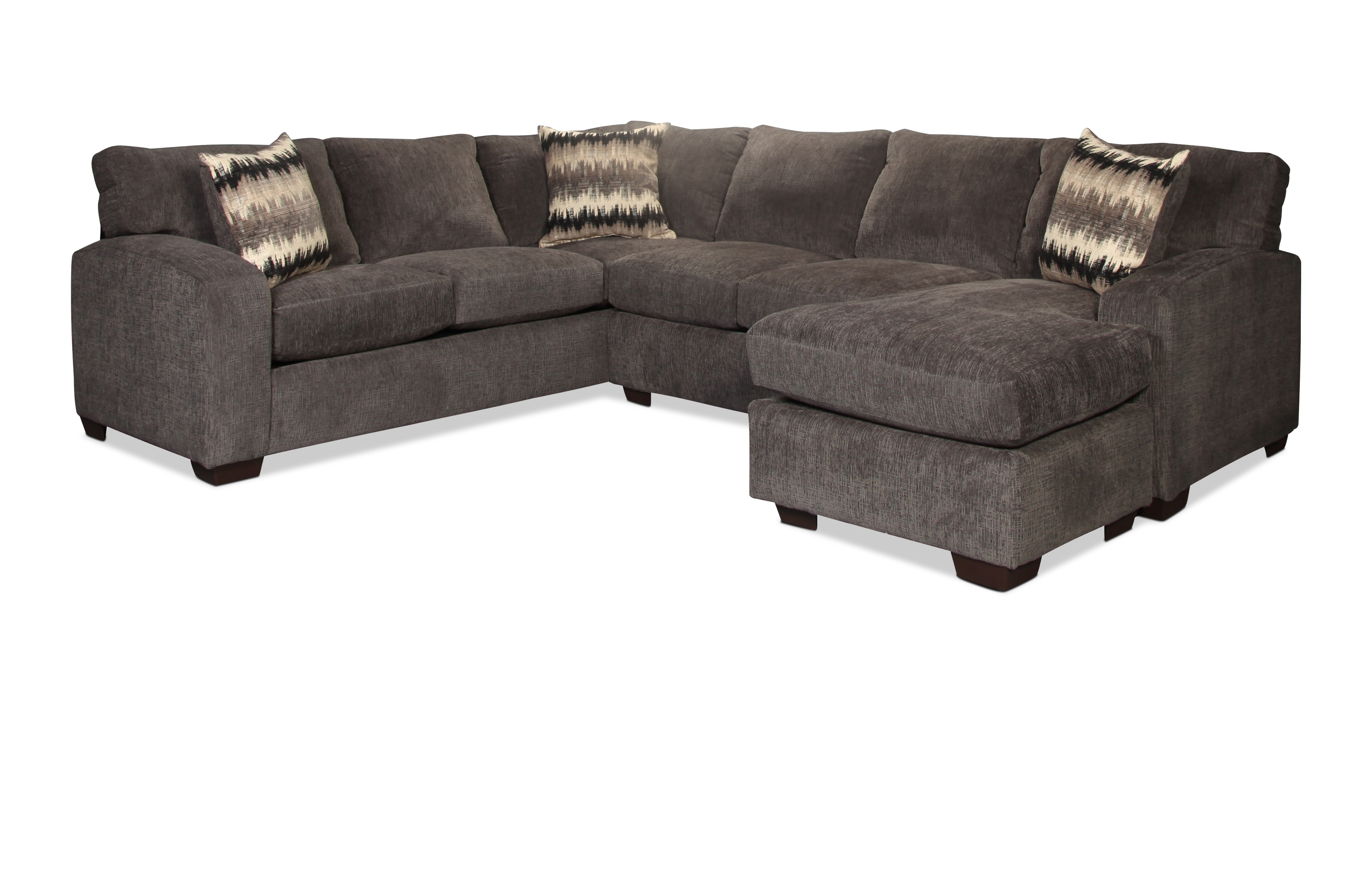 Fenella 2-Piece Right-Facing Sectional - Smoke