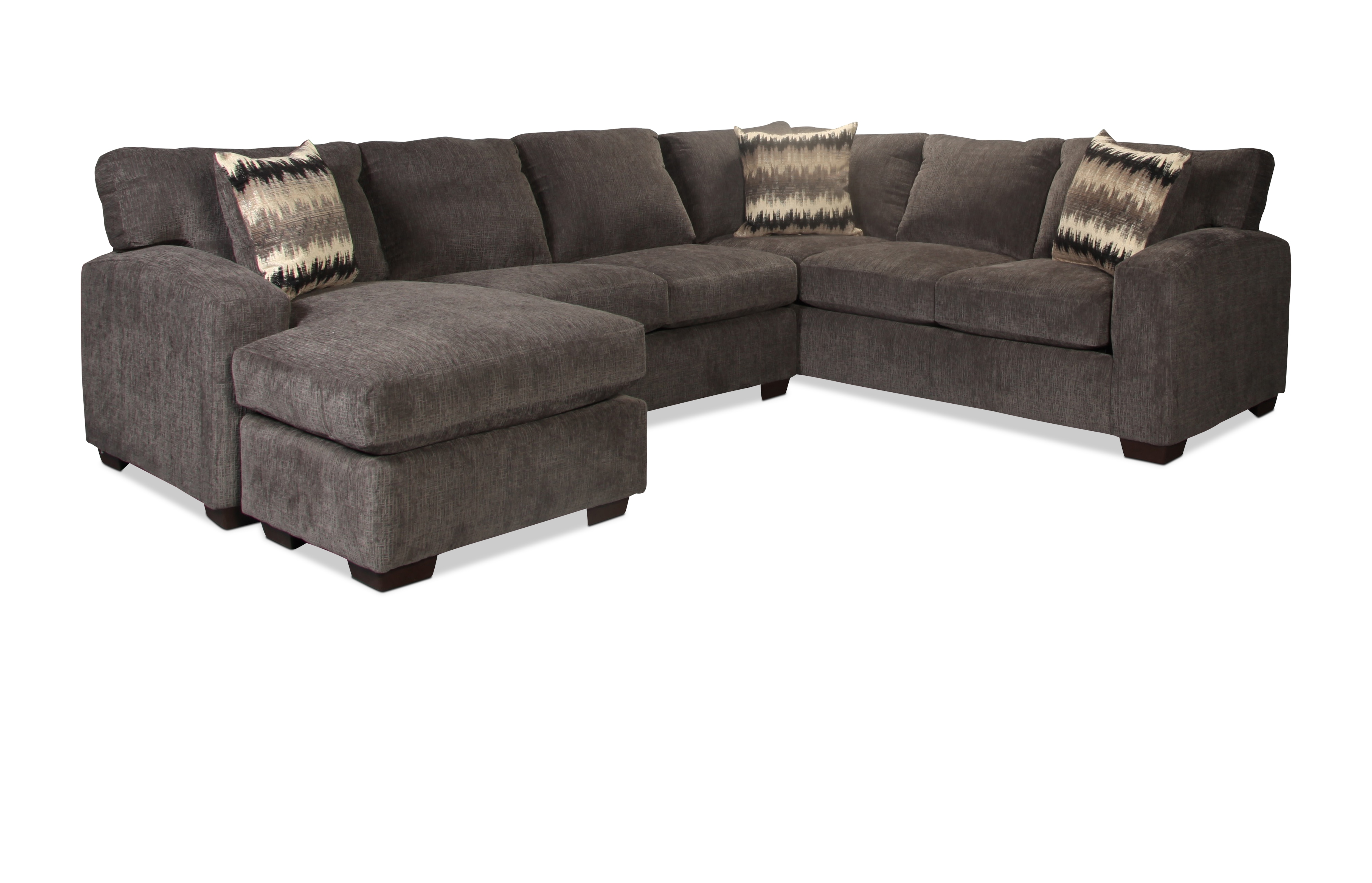 Fenella 2-Piece Left-Facing Sectional - Smoke