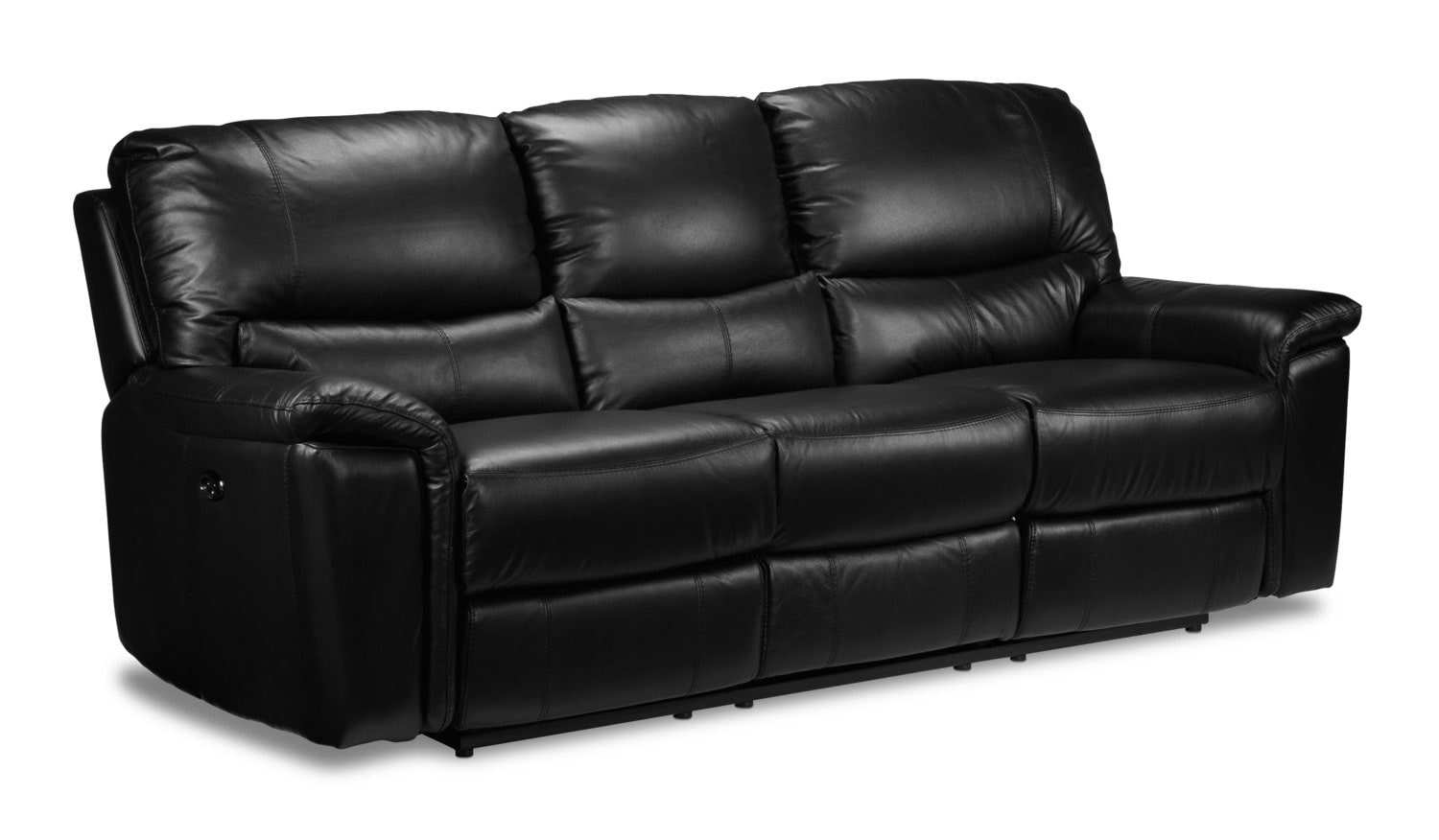 Nolan power reclining loveseat black leon 39 s Power loveseat recliner