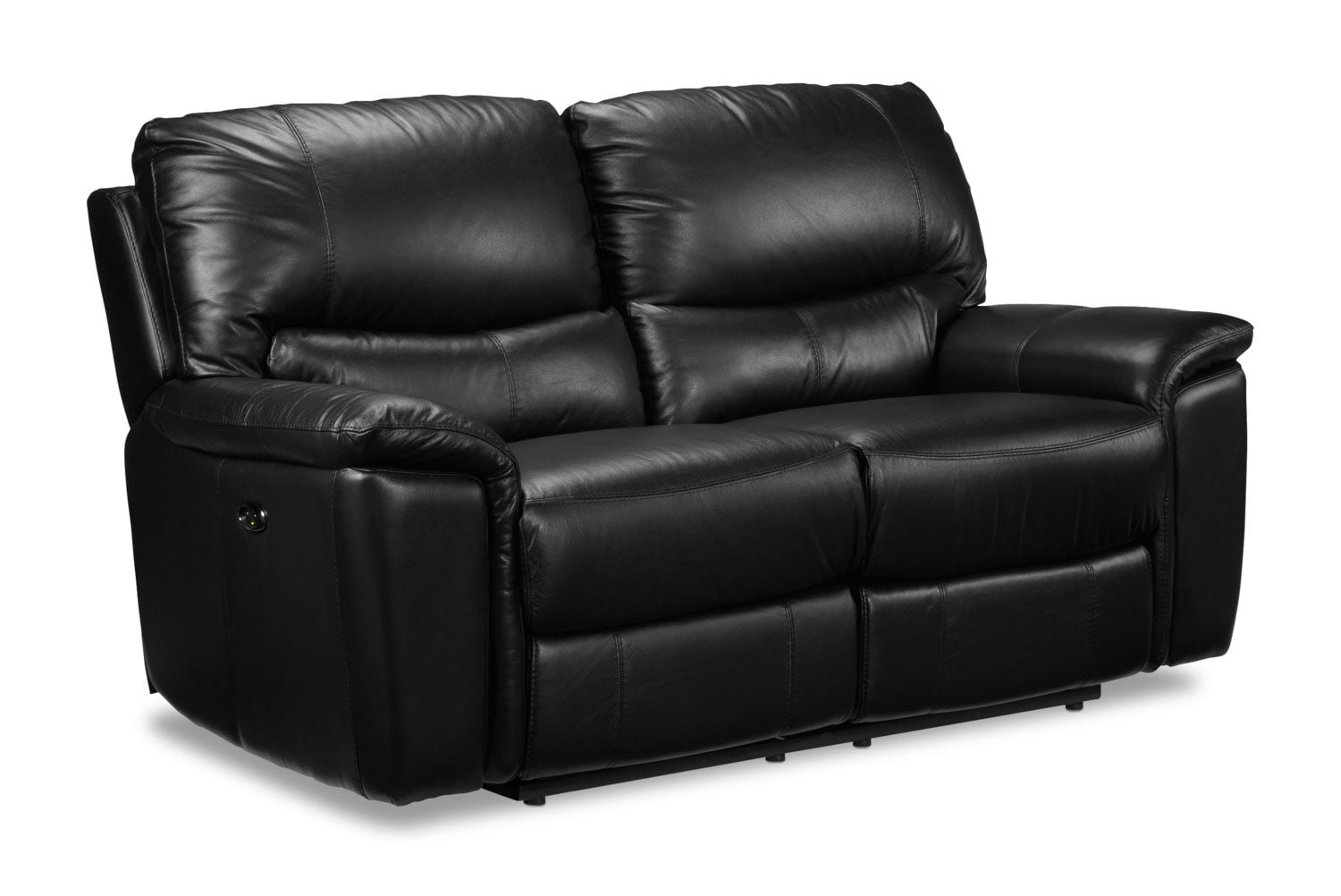 Living Room Furniture - Nolan Power Reclining Loveseat - Black