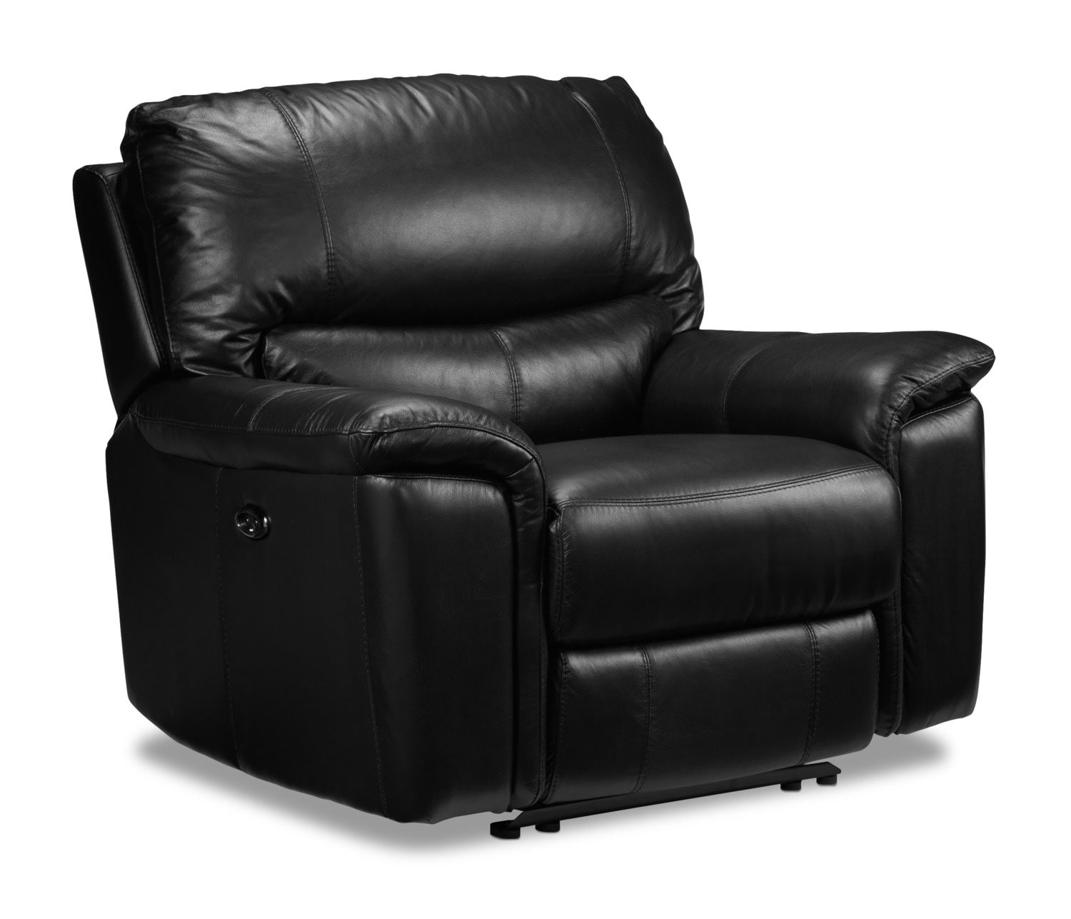 Living Room Furniture - Nolan Power Recliner - Black