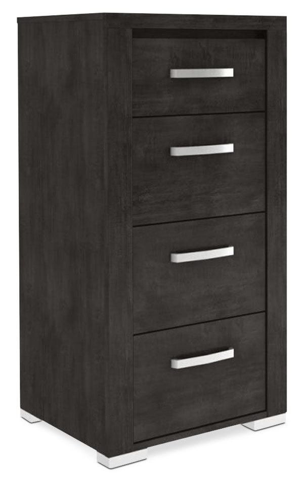 Bedroom Furniture - Monaco 4-Drawer Chest – Anthracite Grey
