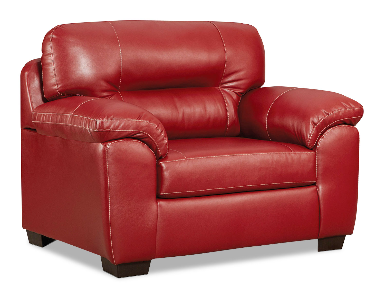 Rigley chair red levin furniture for Levin furniture living room chairs