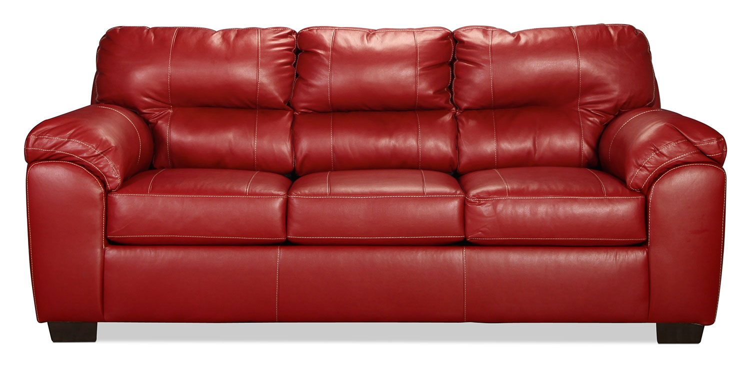 Living Room Furniture - Rigley Queen Sleeper Sofa - Red
