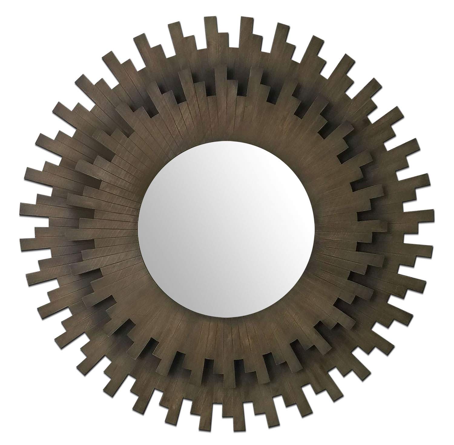 Sunburst Round Mirror - Bronze
