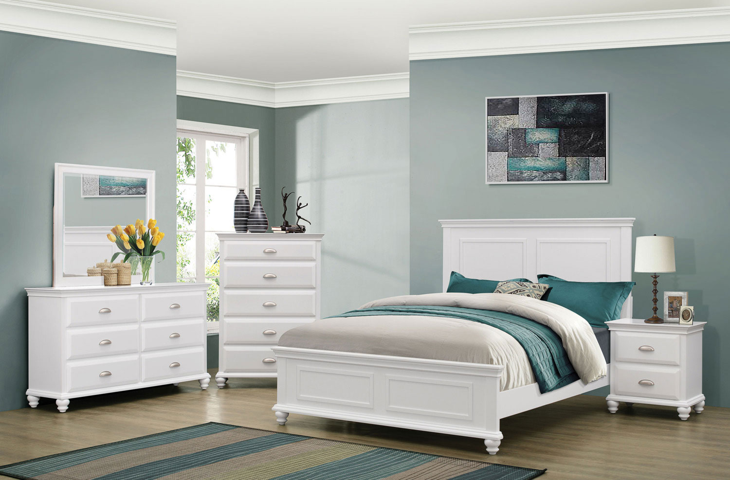 Meadow Shore 3-Piece Queen Bedroom Set - White