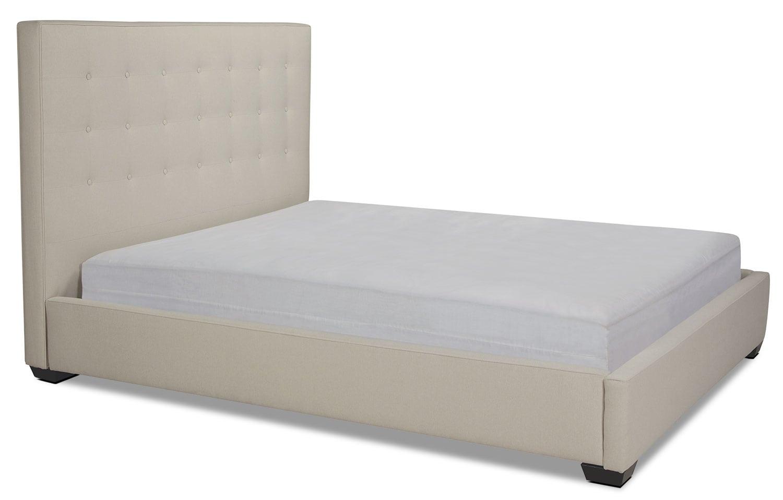 Brier Queen Upholstered Bed - Cream