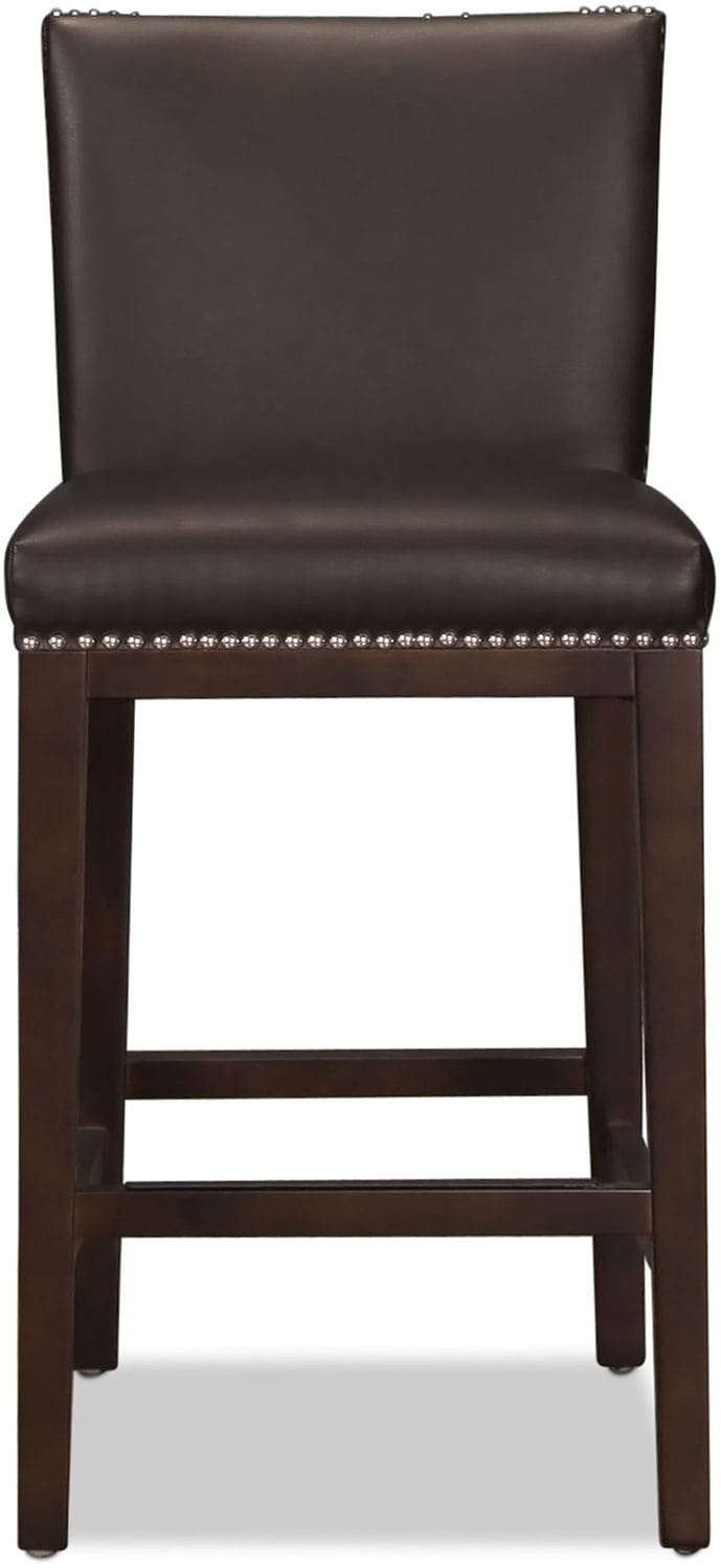 Vintage Counter-Height Stool - Brown
