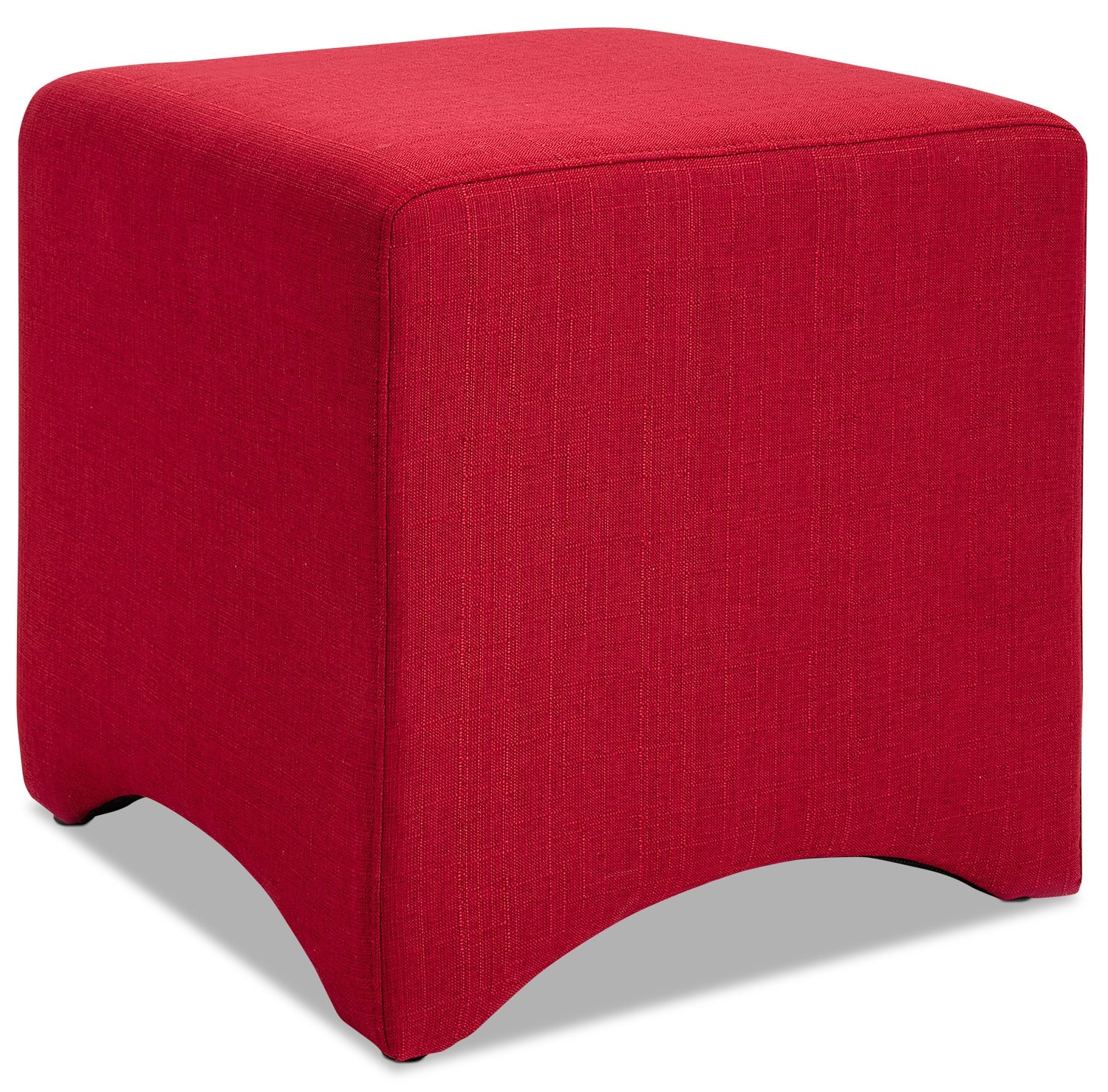 Accent and Occasional Furniture - Kaiba Ottoman – Red