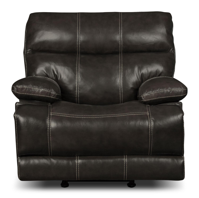Gavin Genuine Leather Power Reclining Chair – Grey