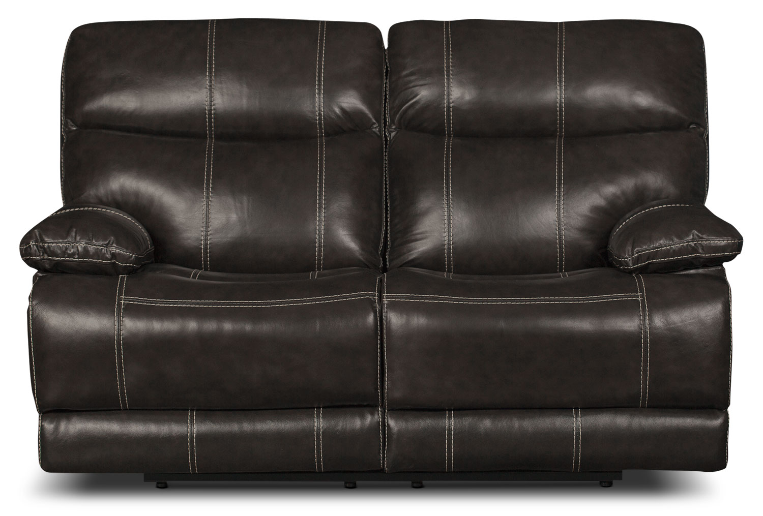 Gavin Genuine Leather Power Reclining Loveseat – Grey