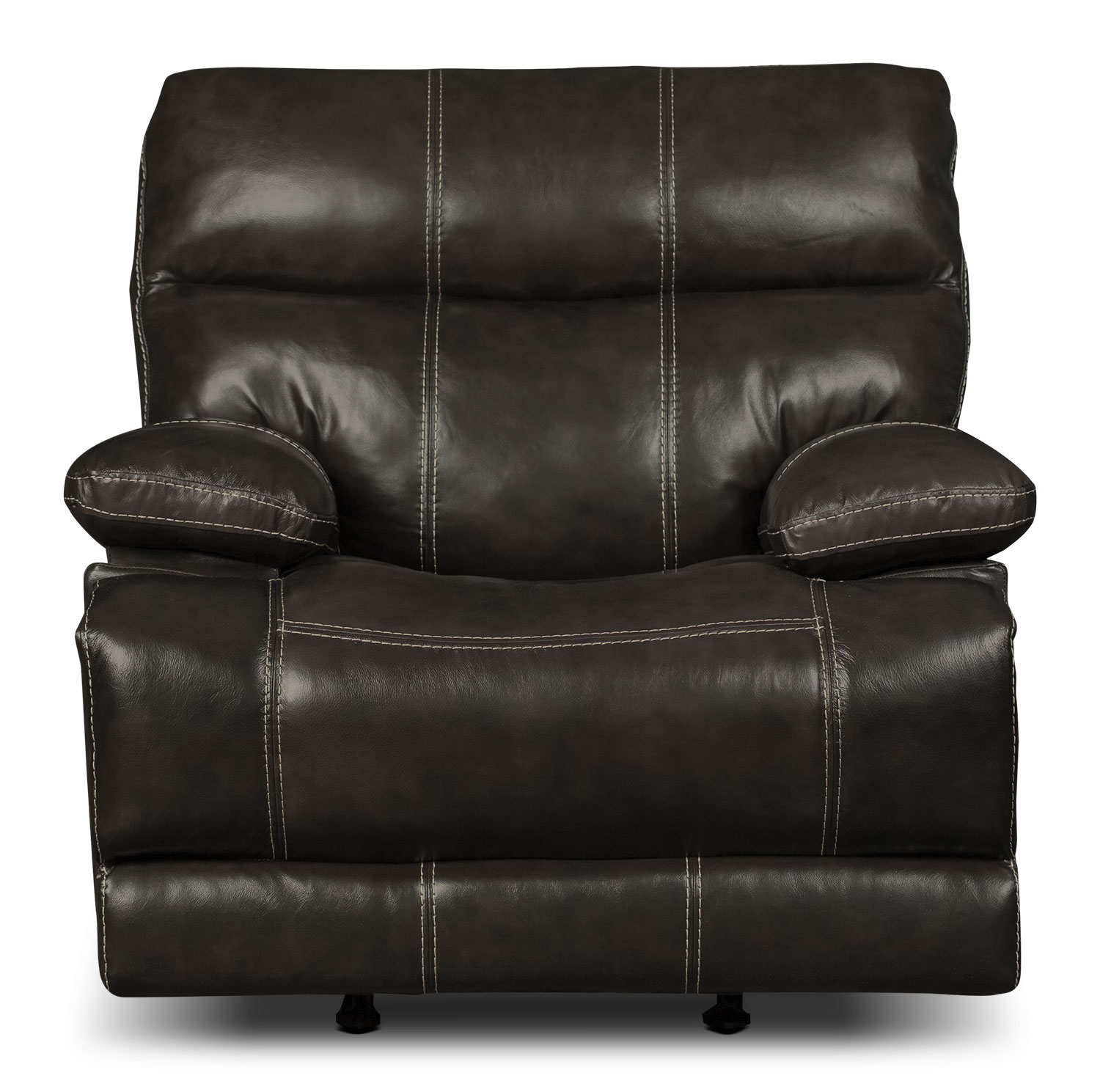 Gavin Genuine Leather Reclining Chair – Grey